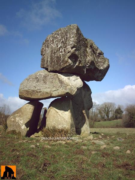 AGHNACLIFF PORTAL TOMB, COUNTY LONGFORD