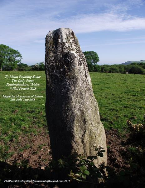 Ty Meini Standing Stone/The Lady Stone